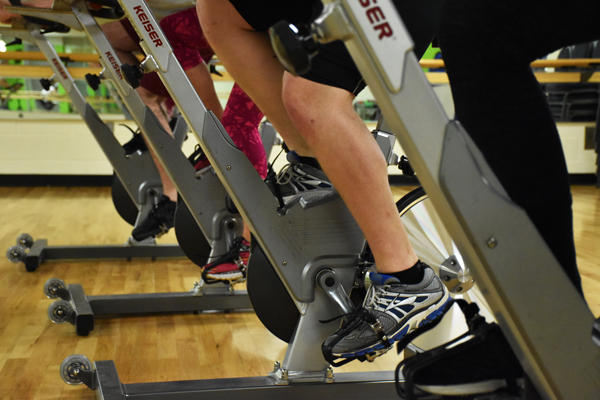 Bike on our spin bikes during a class or bring your bike to the Center and cycle around our 1-mile outdoor trail.