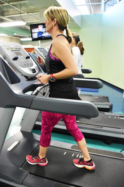 Run the outdoor trail, indoor track, or treadmills.