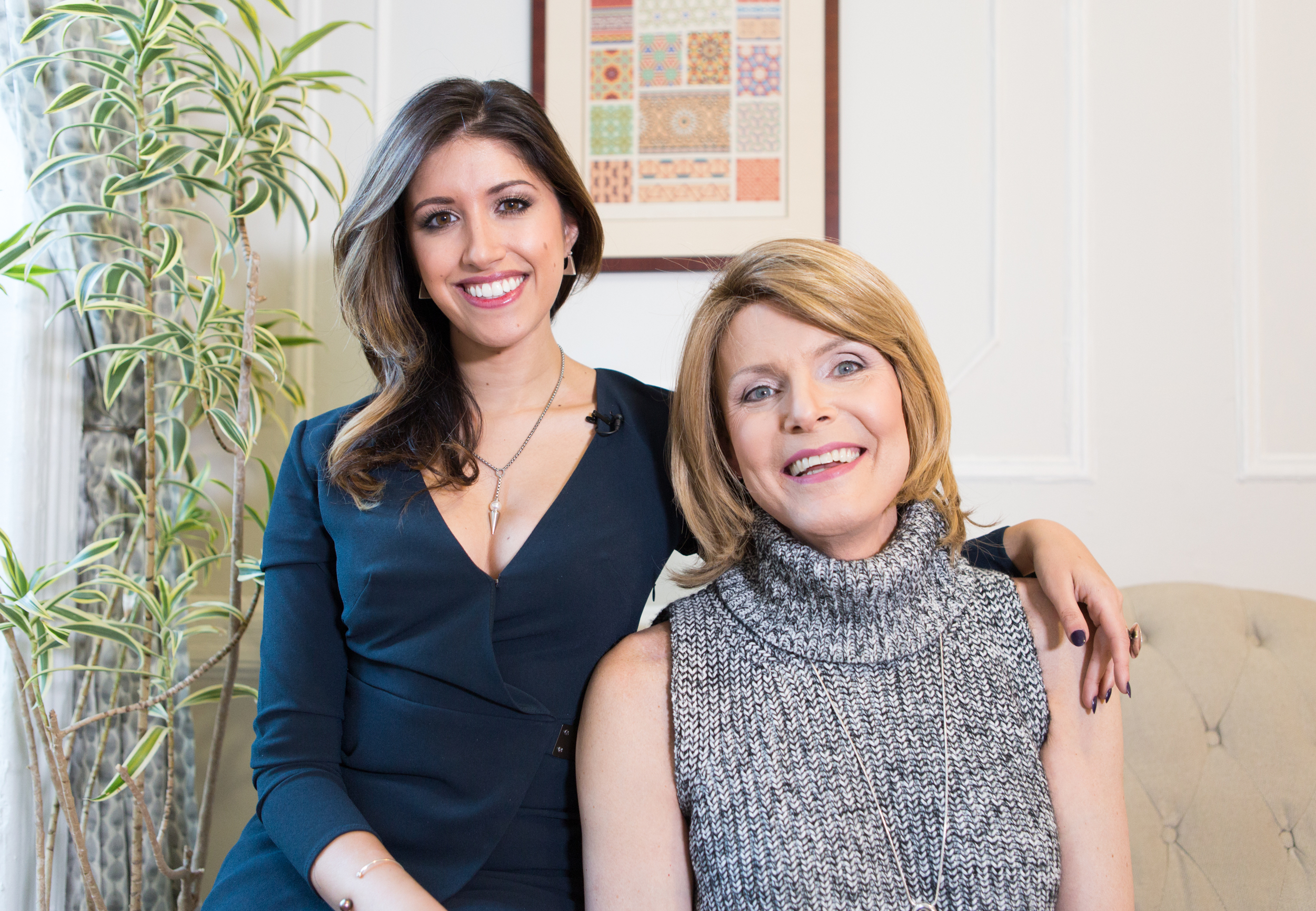 Image consultant Monica Prata poses with transgender client Bree Benz after a hair, makeup, and wardrobe session in New York City, for  Women in the World .