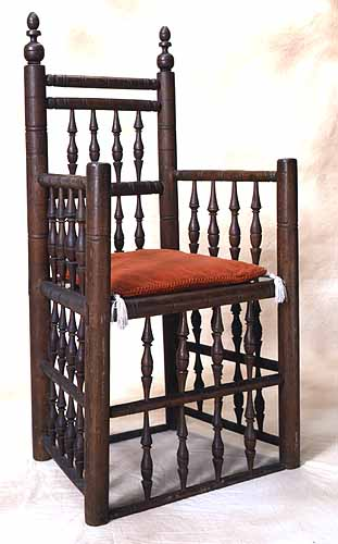 A chair that once belonged to Governor William Bradford, now on display at the  Pilgrim Hall Museum  in Plymouth.