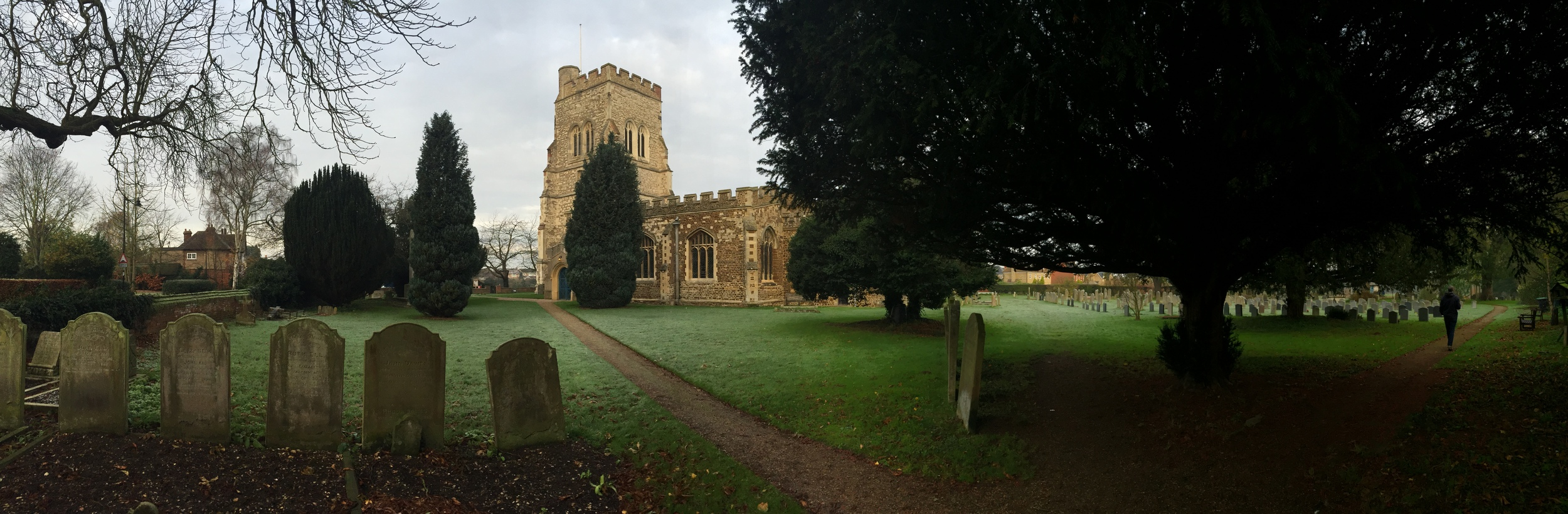 The parish church of Henlow, Bedfordshire, where Henry Samson was baptized on 15 January 1603/4.