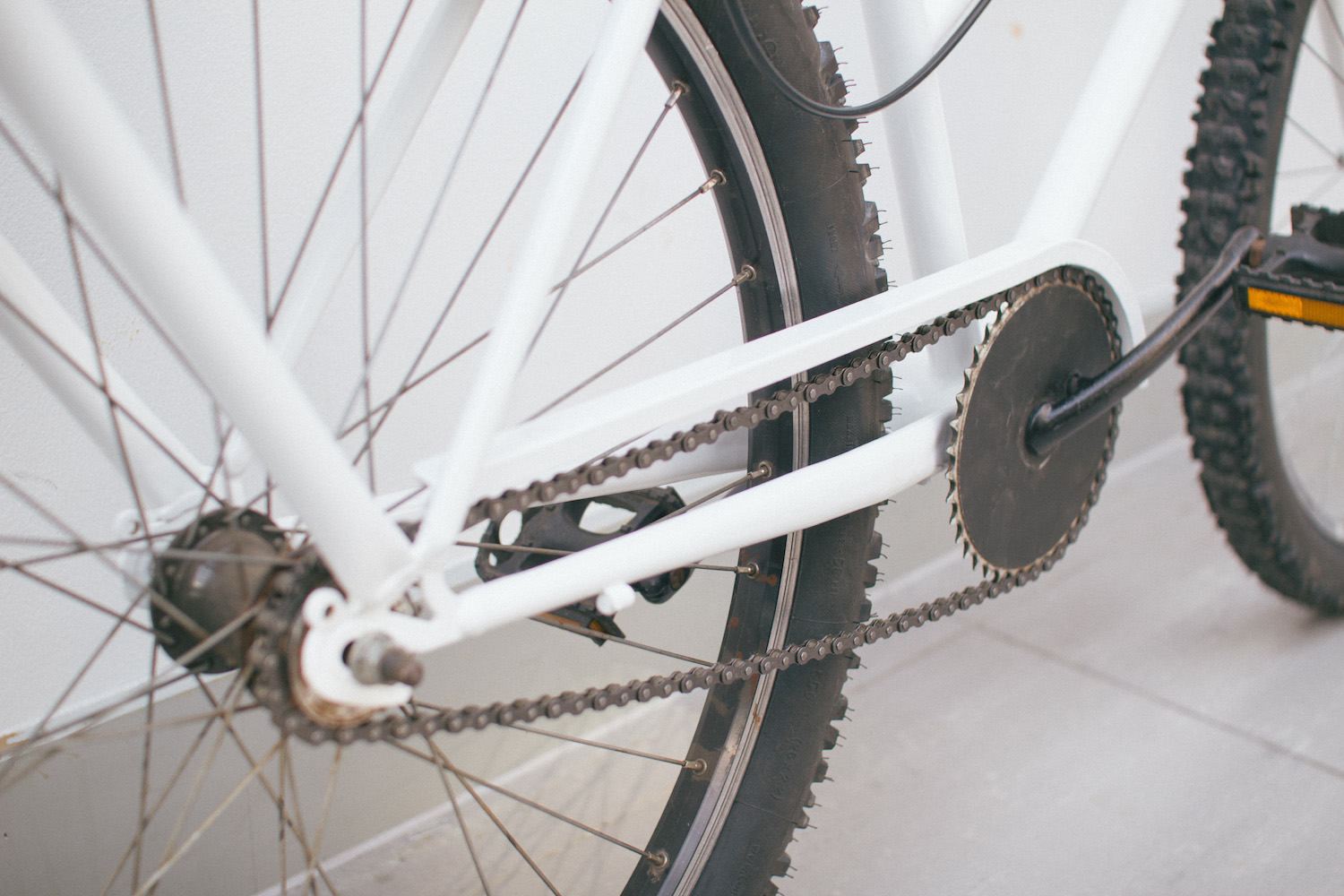 Integrated chain guard