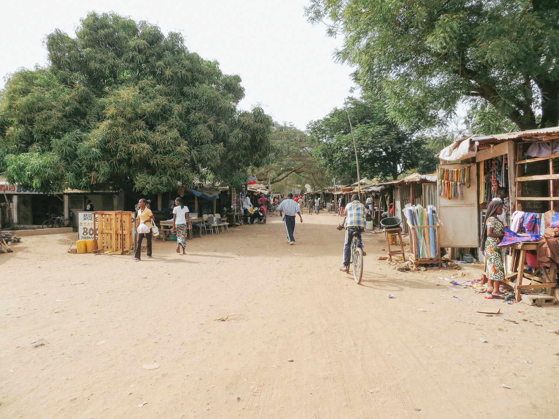 One of the main markets in Gunjur
