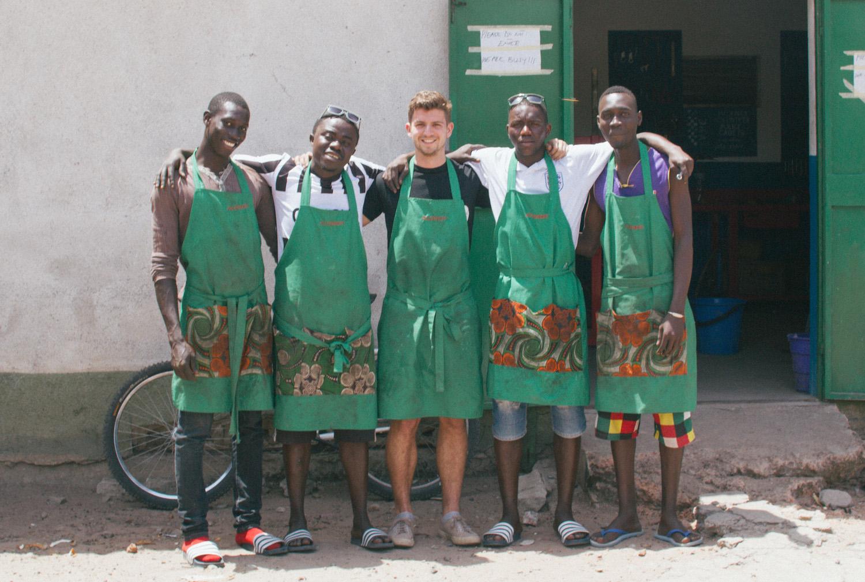 Myself and the Bikes4Africa workshop team
