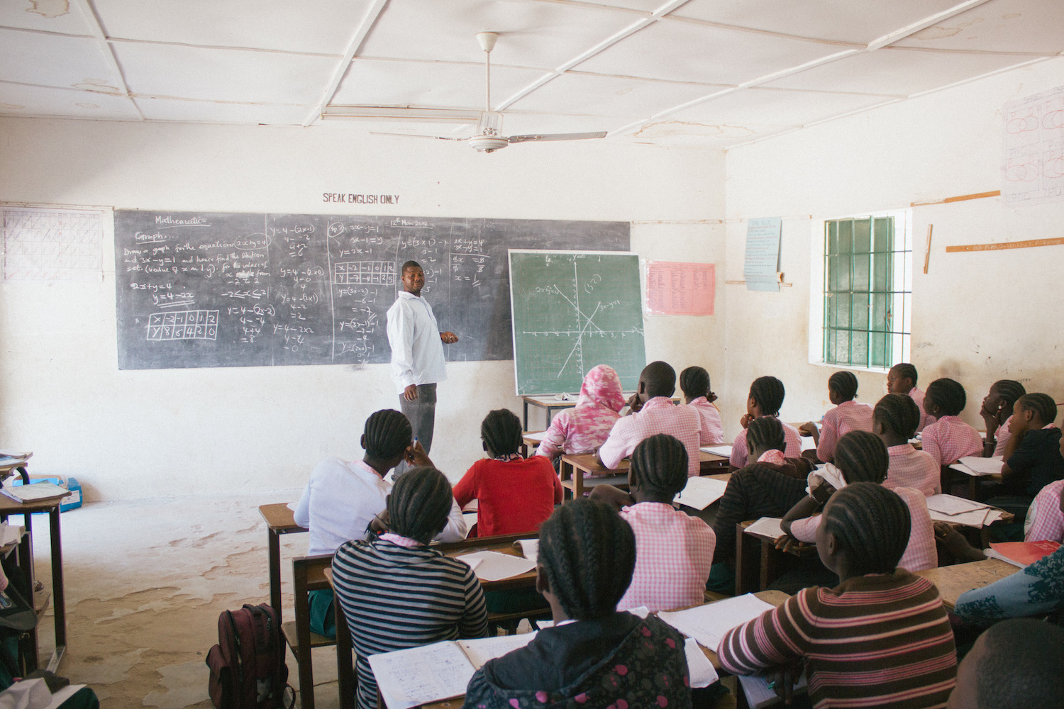 A typical classroom scene