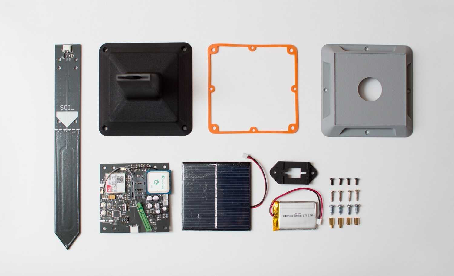 A really cool project we worked on. A soil moisture sensor for farms in India.
