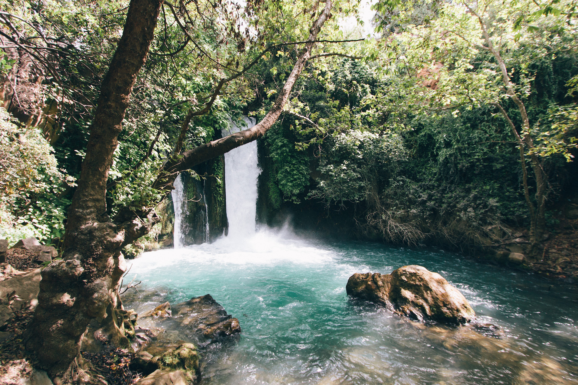 The waterfalls - Walking through the Benias Nature Reserve meant we got to see some amazing waterfalls and old mills, not to mention the ruins of Caesarea Philippi which date back to 20BC.