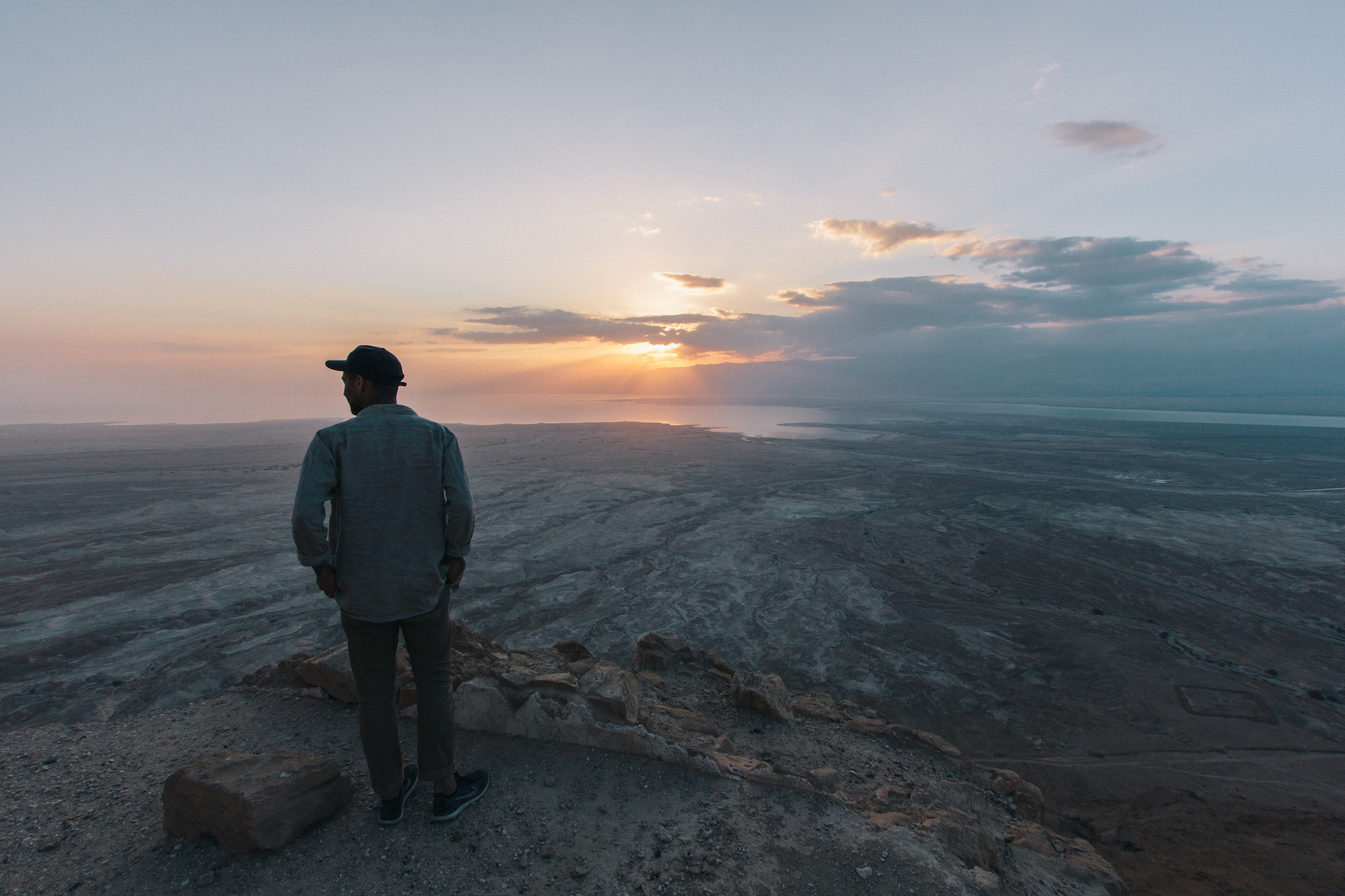 Masada - We woke up at 4am to travel to a ruin of Herods main fortress in the middle east and the view was absolutely outrageous.Masadawas built around 50BC and was a stronghold for Herod.