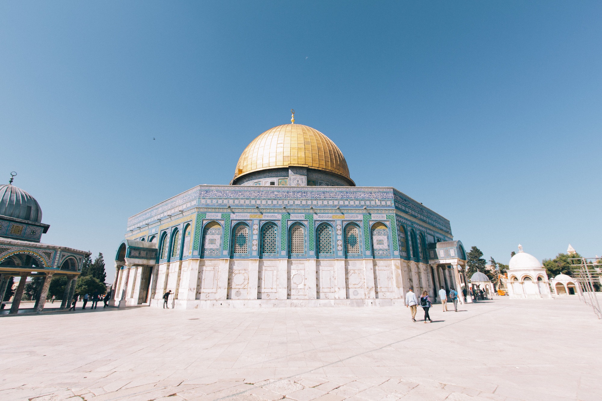 Dome of the Rock - No matter your religious beliefs this building, located on the top of Temple Mount, is absolutely stunning to look at and walk around.