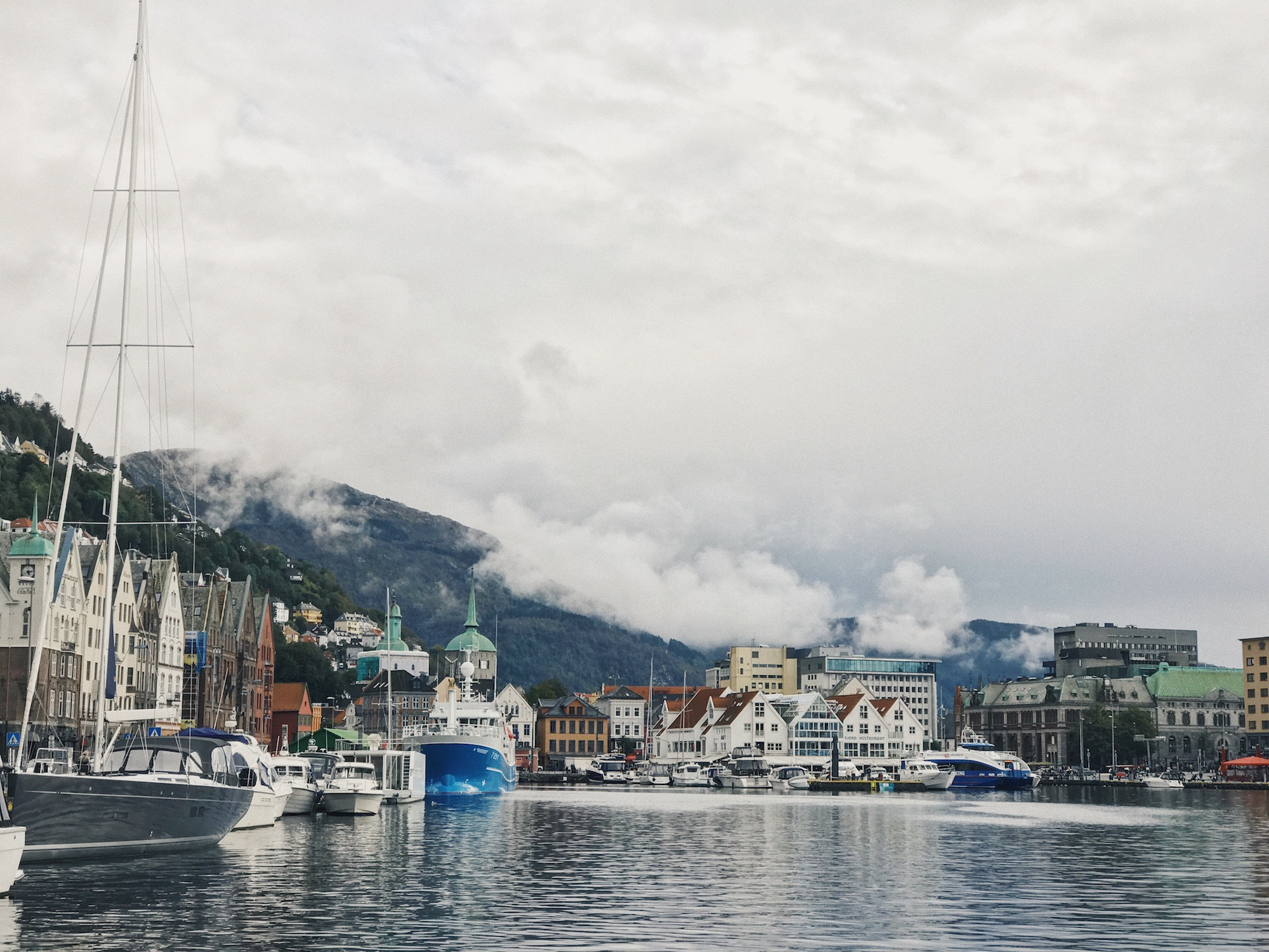The port - Bergen is one of the main port towns in the south of Norway and there a plenty of boats dotted around the harbour. This means fresh seafood is always the menu and we definitely ate at some great places.