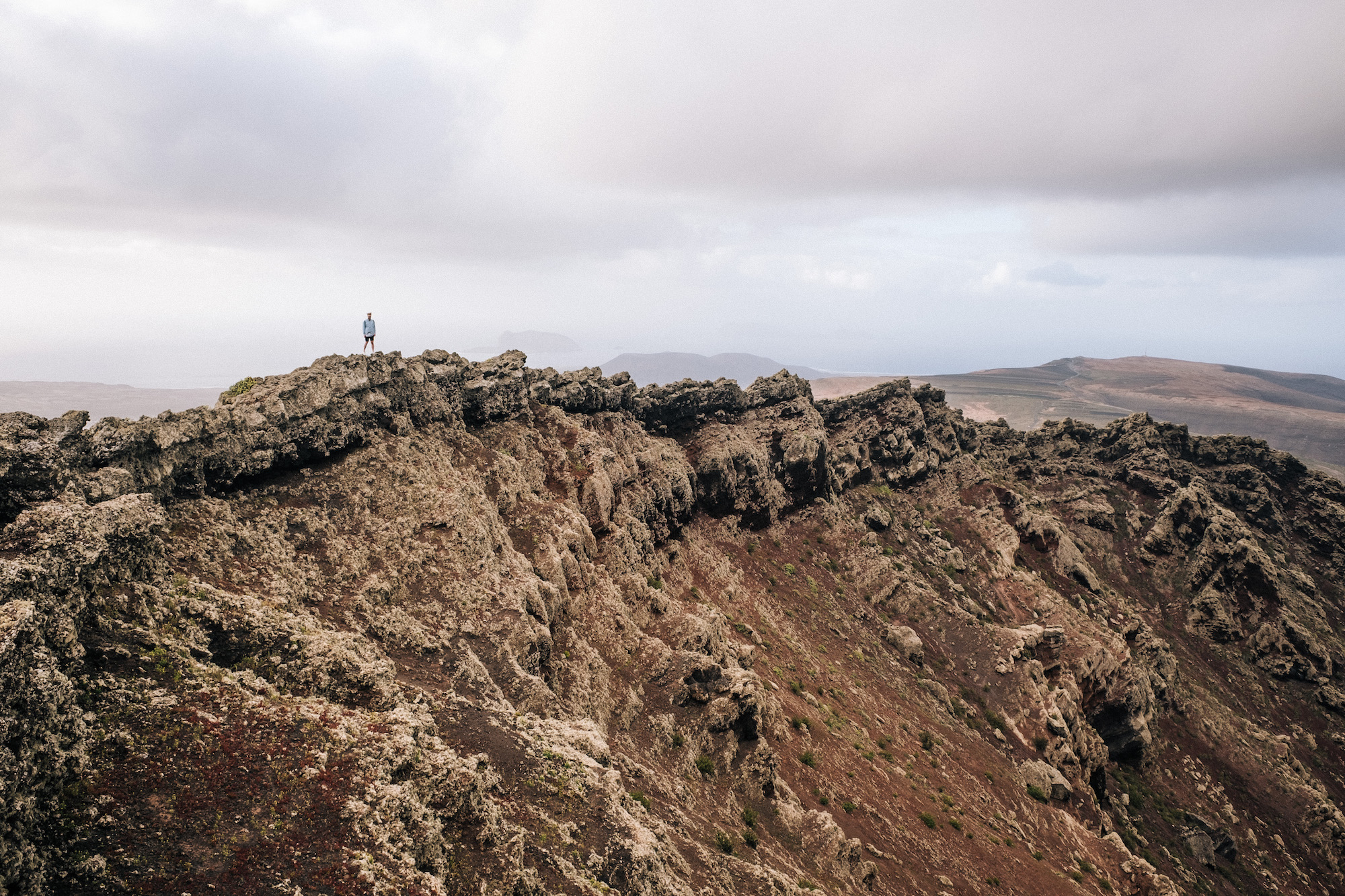 Yé Volcano - As Lanzarote is a volcanic island there are plenty of places to hike up and get great views of the surrounding area. This volcano was accessible from the small town called Yé and after some rather sketchy hiking we made it to the top.