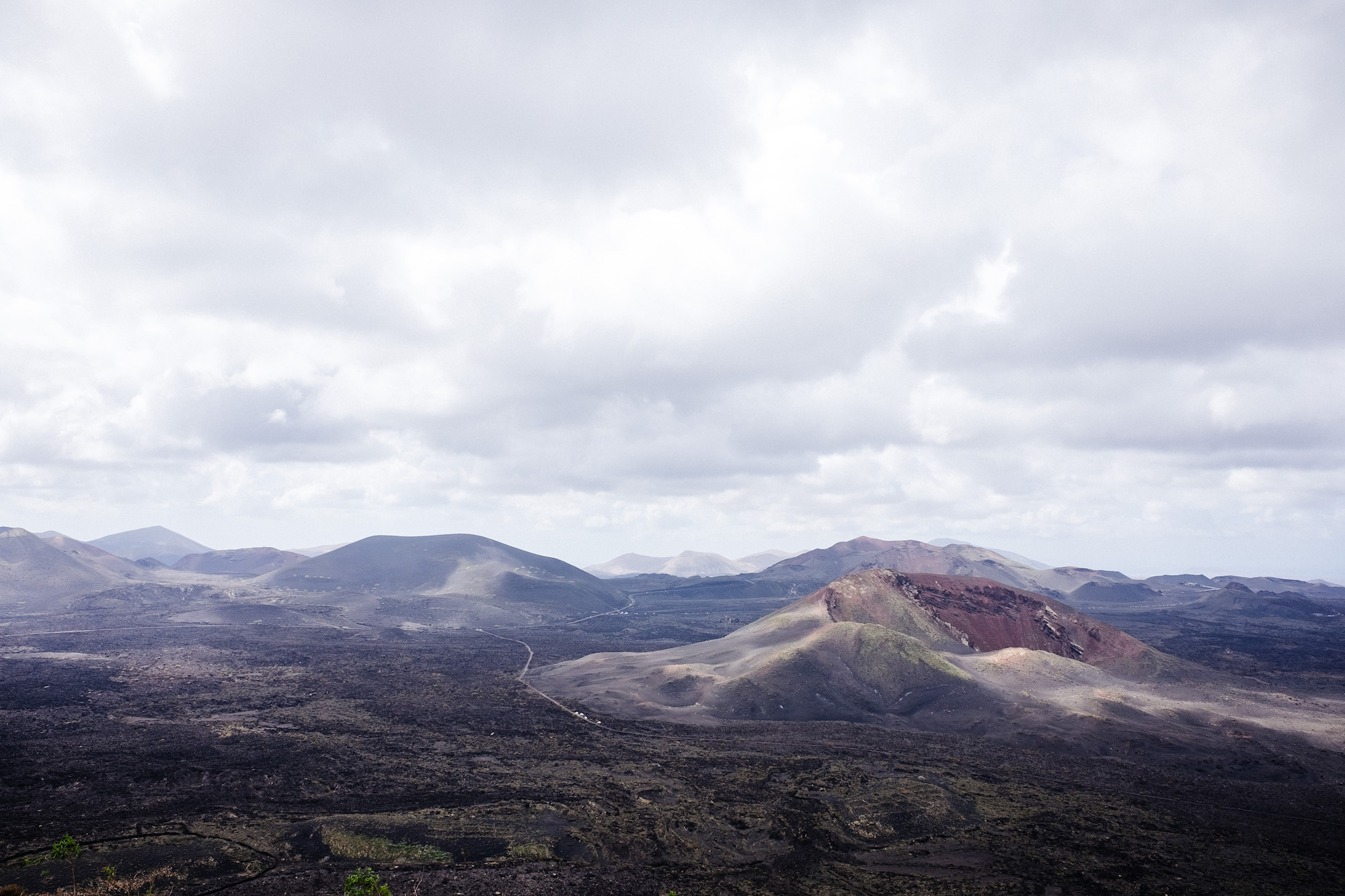 Los Volcanes - The national park in the south of the island is predominantly one huge lava field. This was formed by huge numbers of eruptions that stretch from the centre of the island right to the coast.