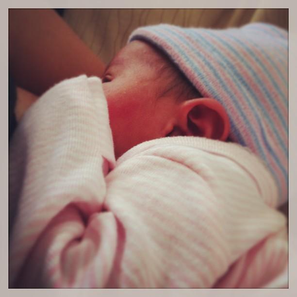 Nursing my precious baby girl.