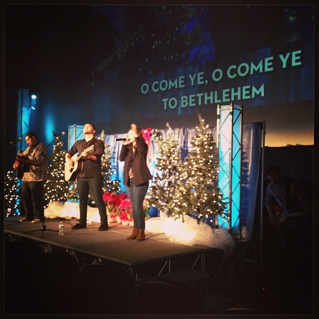 Here's a shot from church on Sunday. So happy the Christmas season is here!