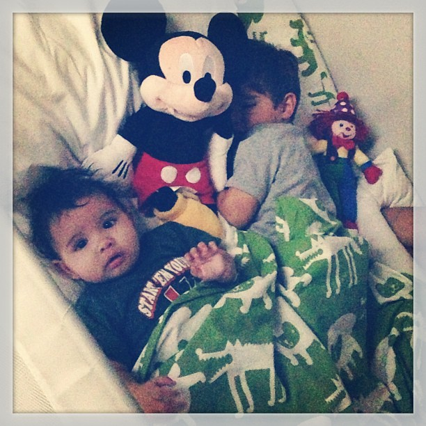 They love Mickey Mouse!