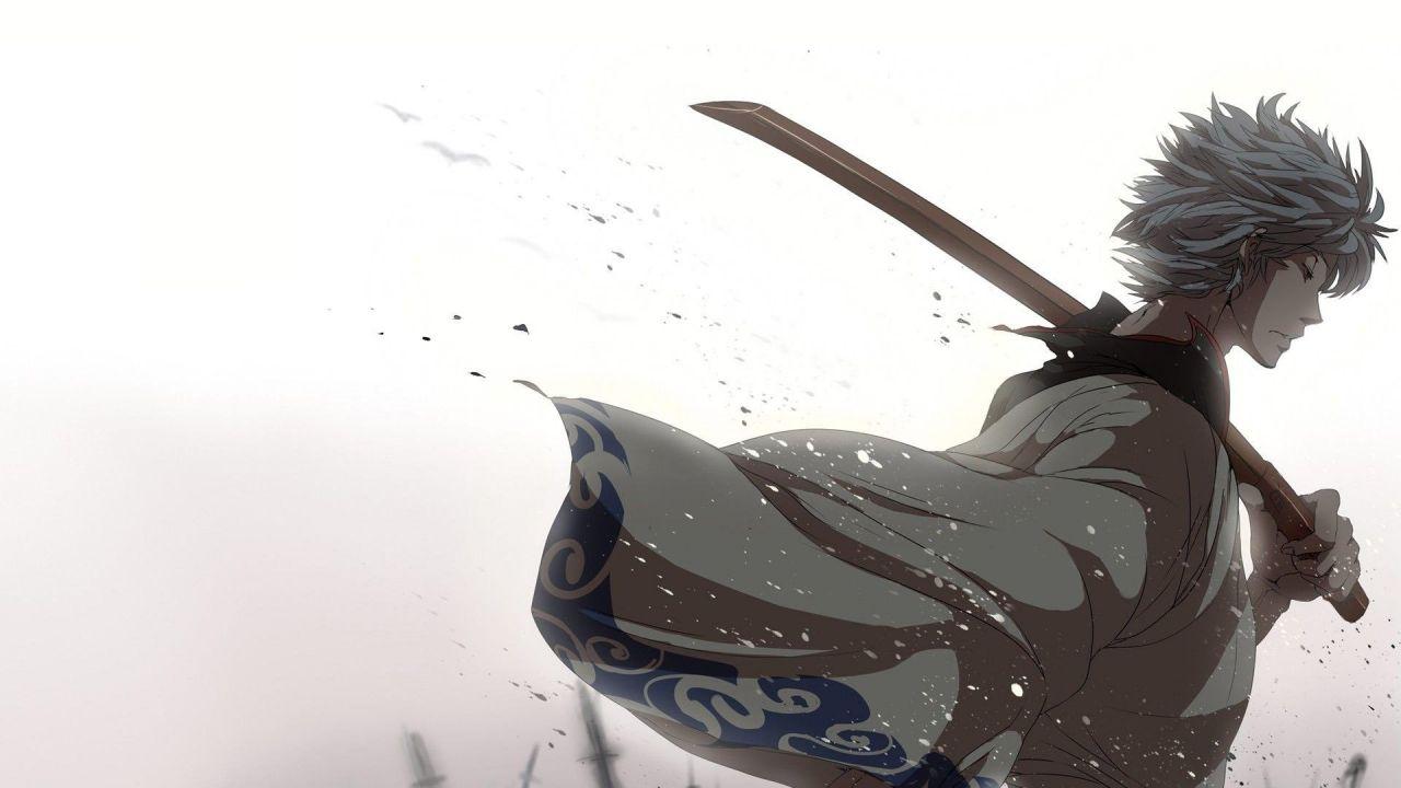Sakata Gintoki from  Gintama .