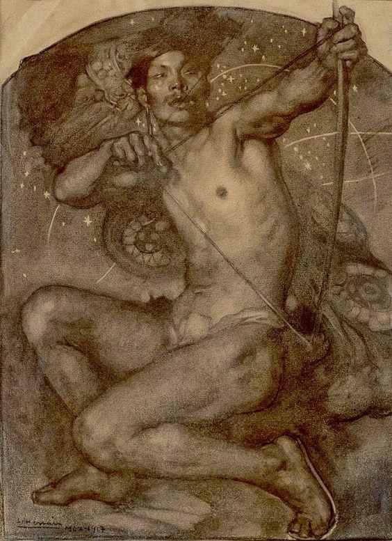 Illustration for  Pegaso  magazine. 1917.