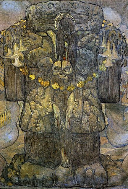 Central panel of  Nuestros Dioses.  1915.