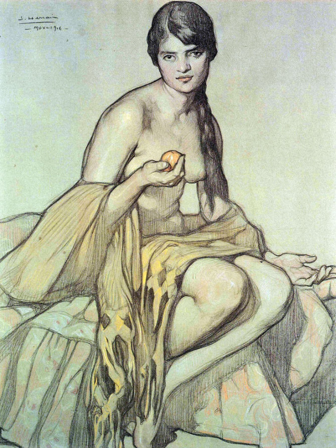 Study for  El Rebozo.  1916.