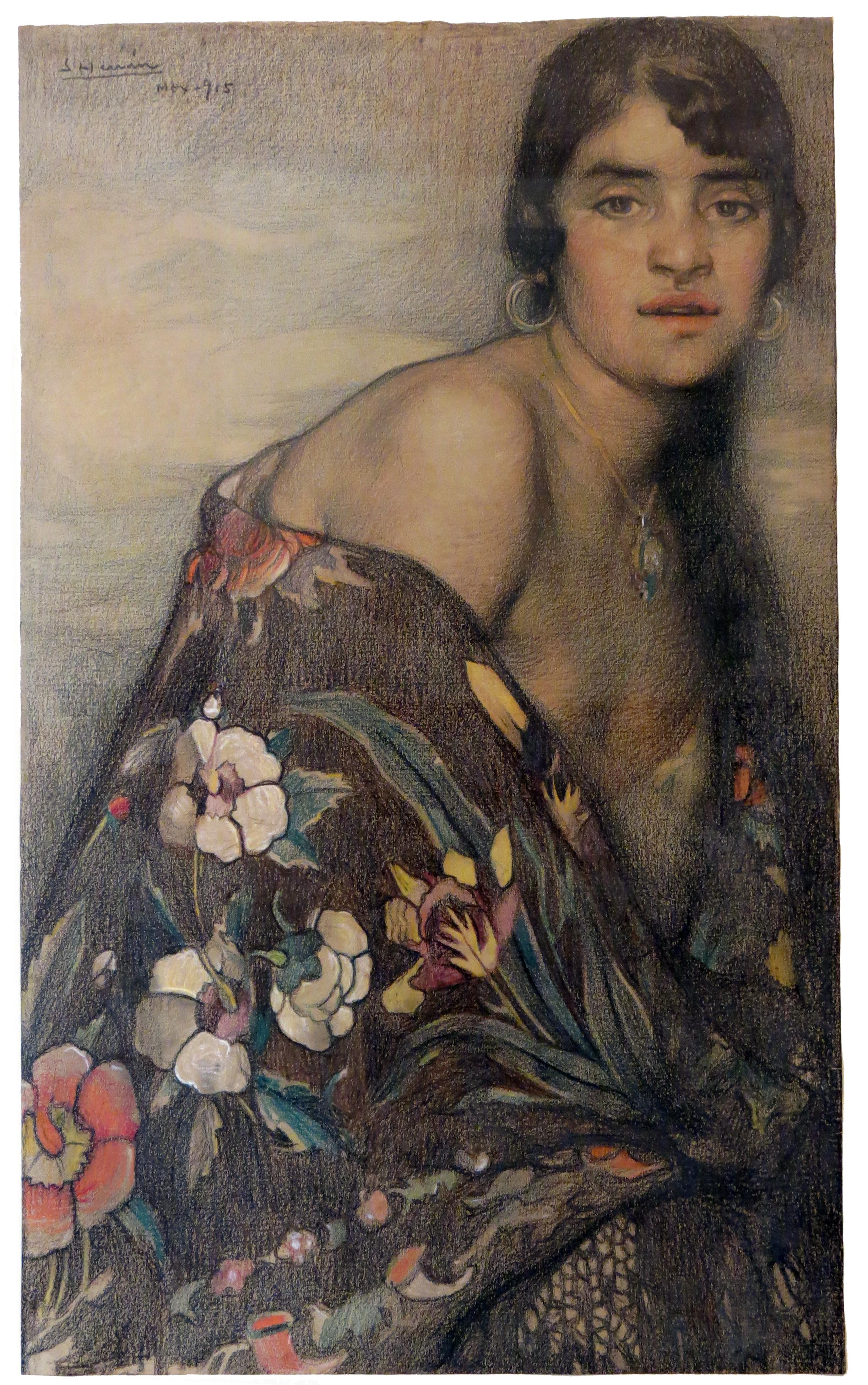 La Criolla del Mantón.  1915.
