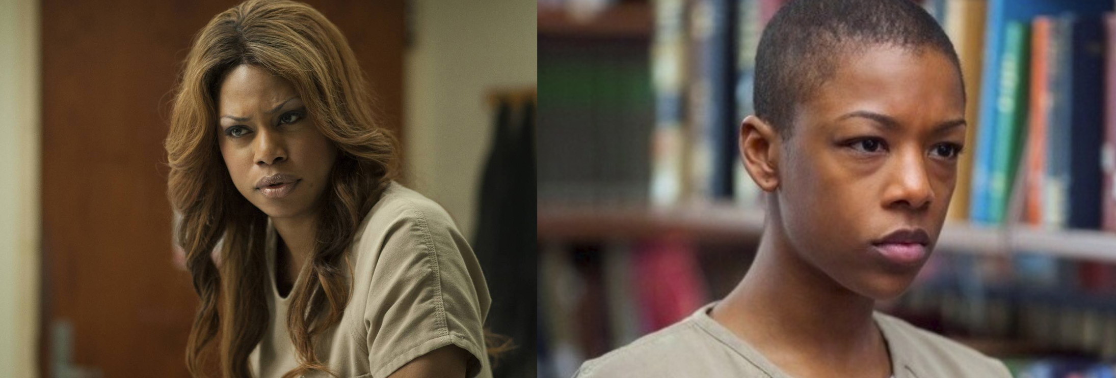 Sophia Burset and Poussey Washington from  Orange is the New Black  (2013-present).