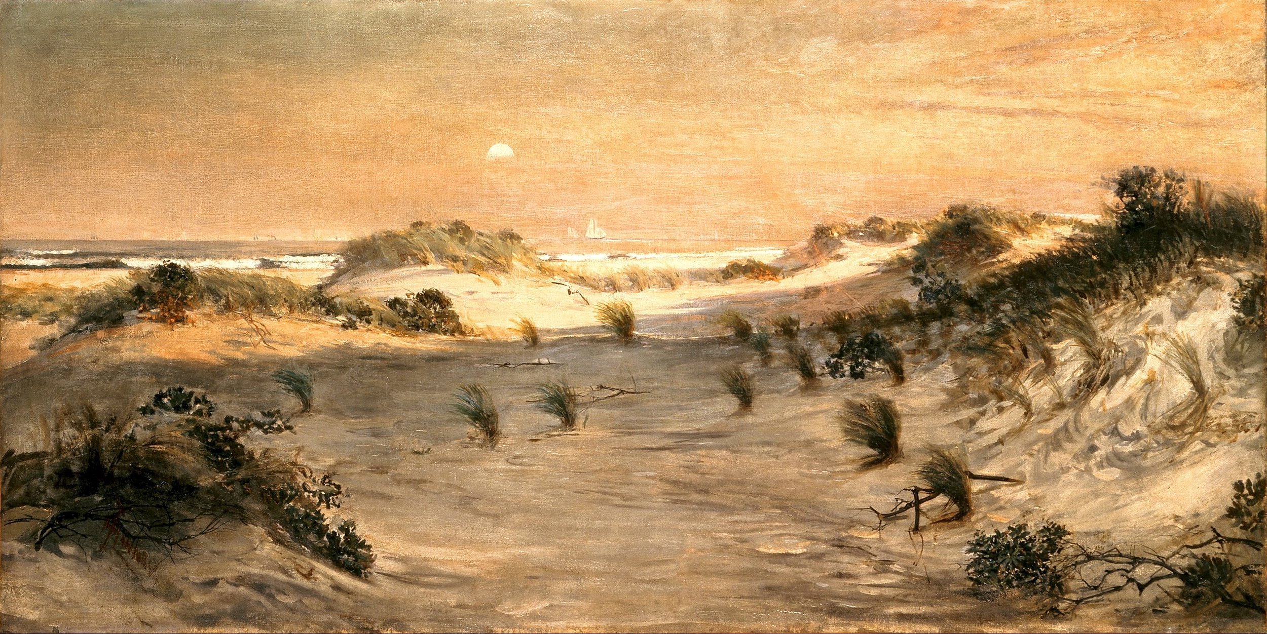Sand Dunes at Sunset, Atlantic City,  1885.