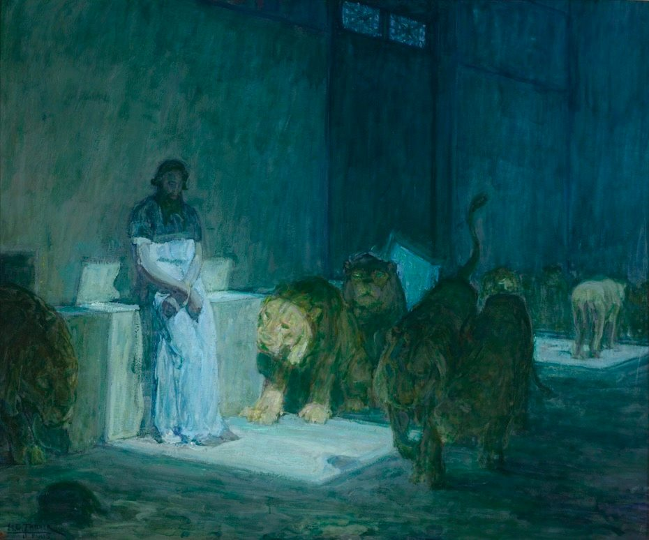 Daniel in the Lion's Den,  1896.