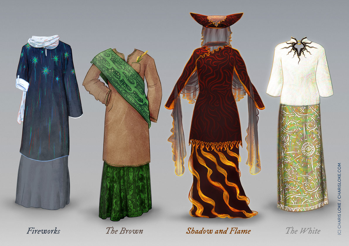 Baju inspired by the Maiar from Tolkien's Middle Earth.