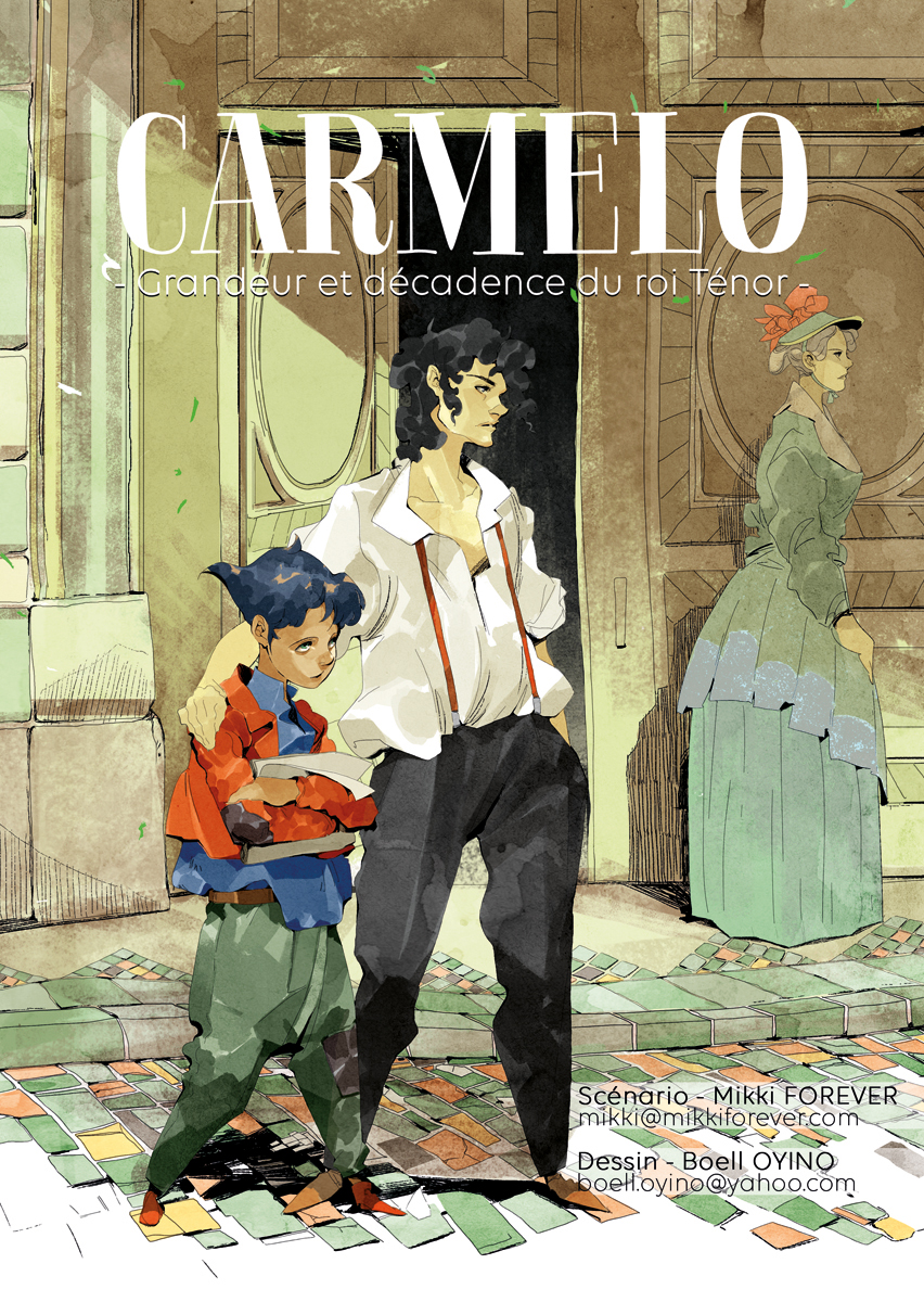 Carmelo  comic, art by Boell Oyino, writing by Mikki Forever.