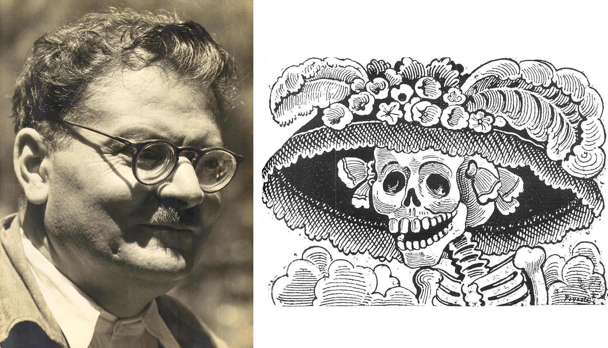 José Guadalupe Posada and his  Calavera Catrina .