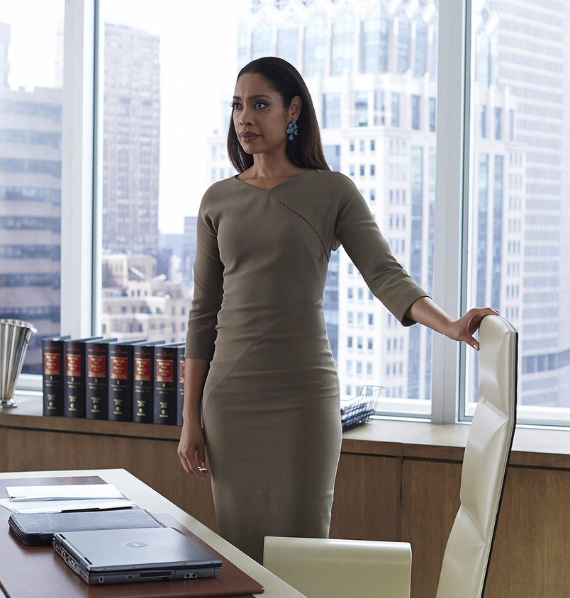 Gina Torres as Jessica Pearson in  Suits  (2011-present).