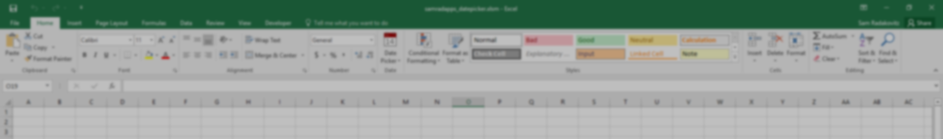 Excel Date Picker — Sam Radakovitz