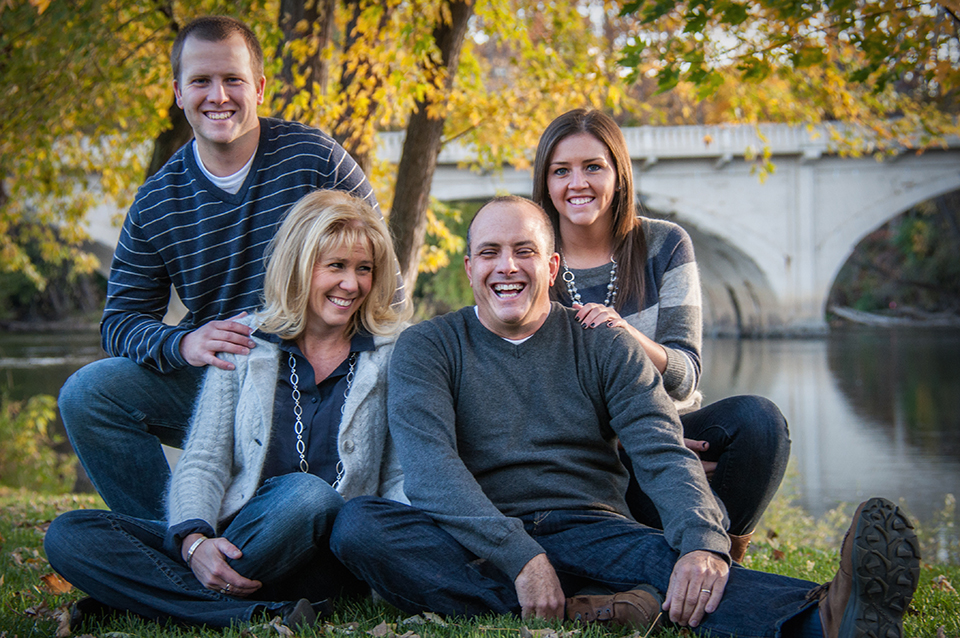 The Cramer Family.  From Left, Grant, Angie, Alan and Bryanna, October 2013.
