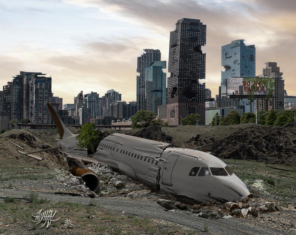 Building Damage and a Crash Plane