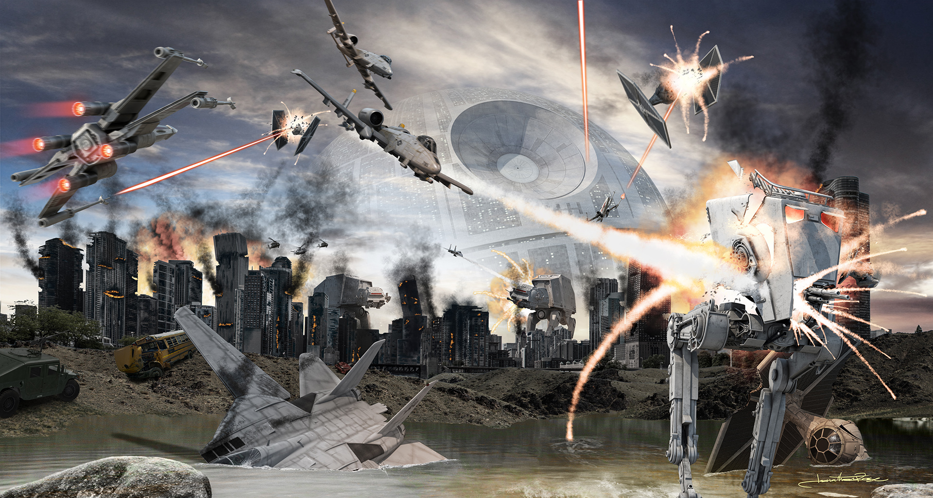 EMPIRE OVER cHICAGO - 2017Photoshop CCStar Wars: TM & © Lucasfilm Ltd. All Rights Reserved