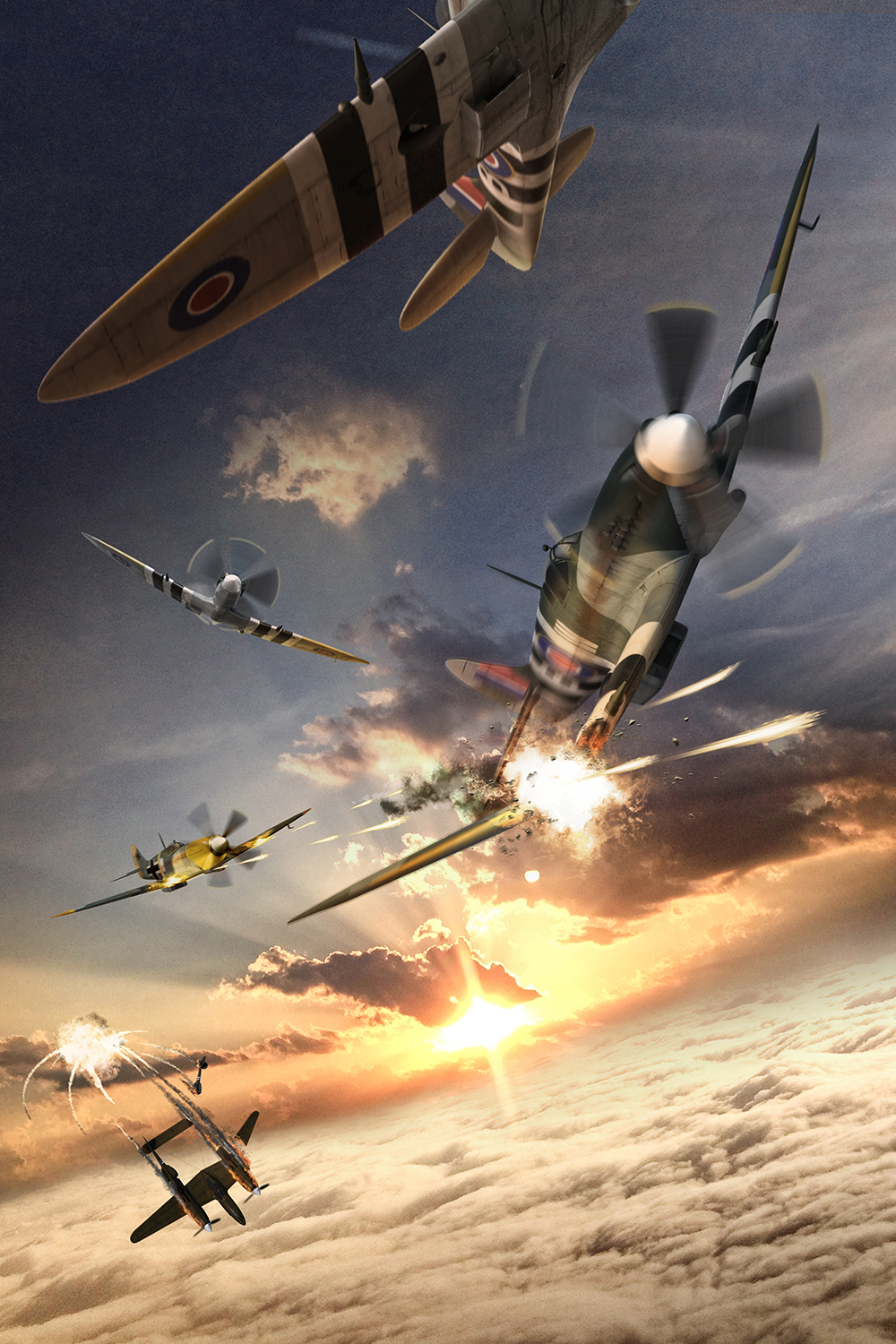 WWII Dogfight - 2016Photoshop CC