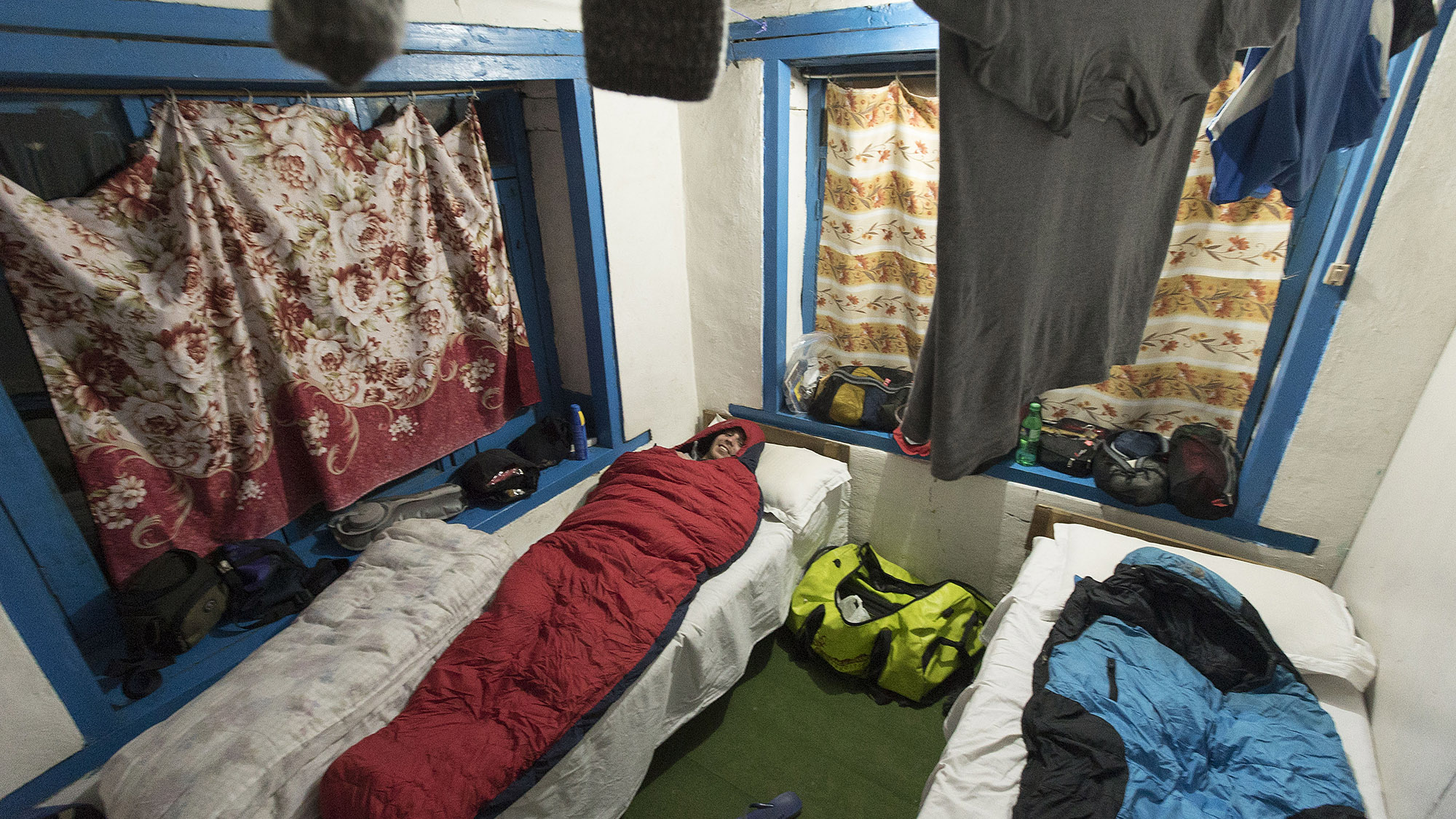 Our first night on the Annapurna trek.