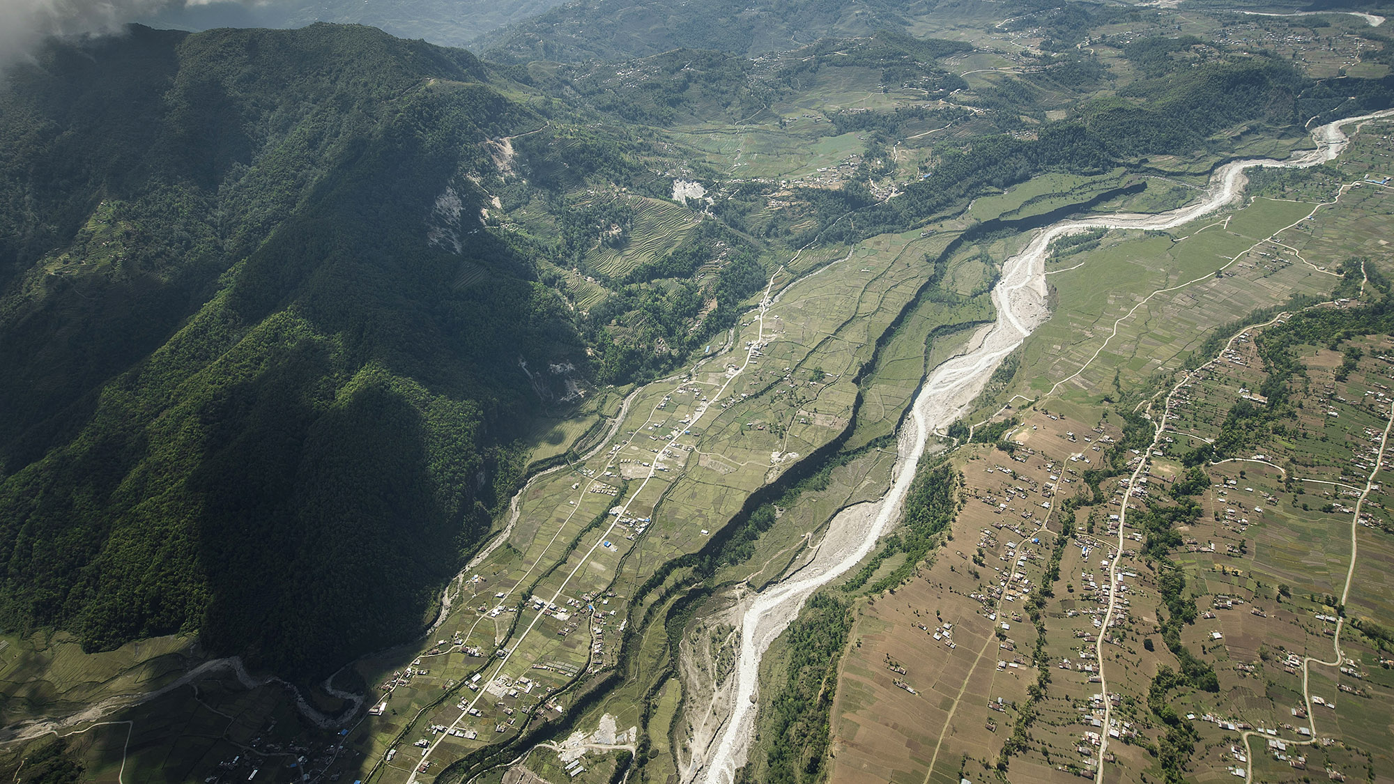 Agricultural settlements border the Seti Gandaki River which brings in fresh waters from the Annapurna region.