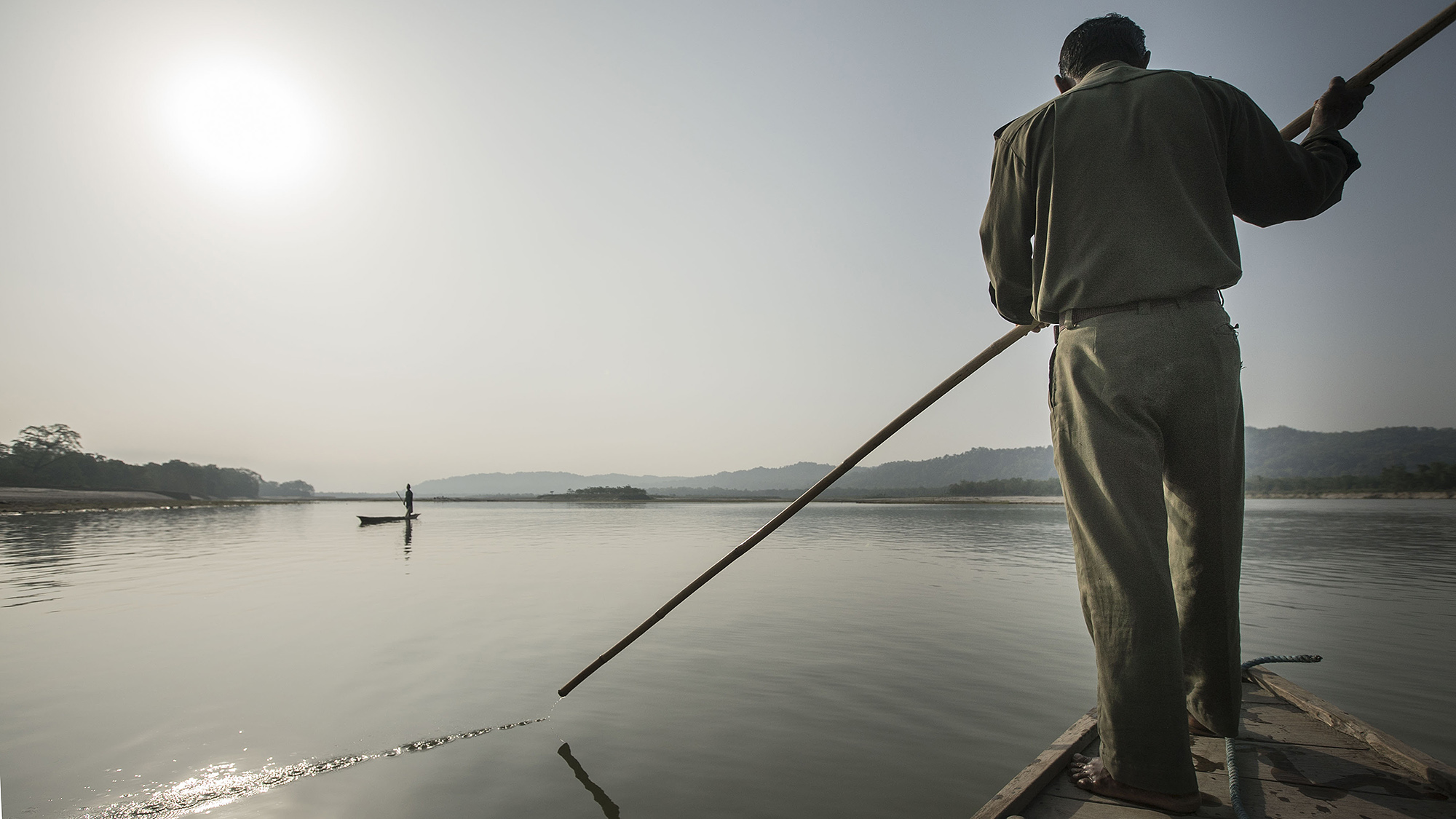 Crossing the Seti Gandaki River