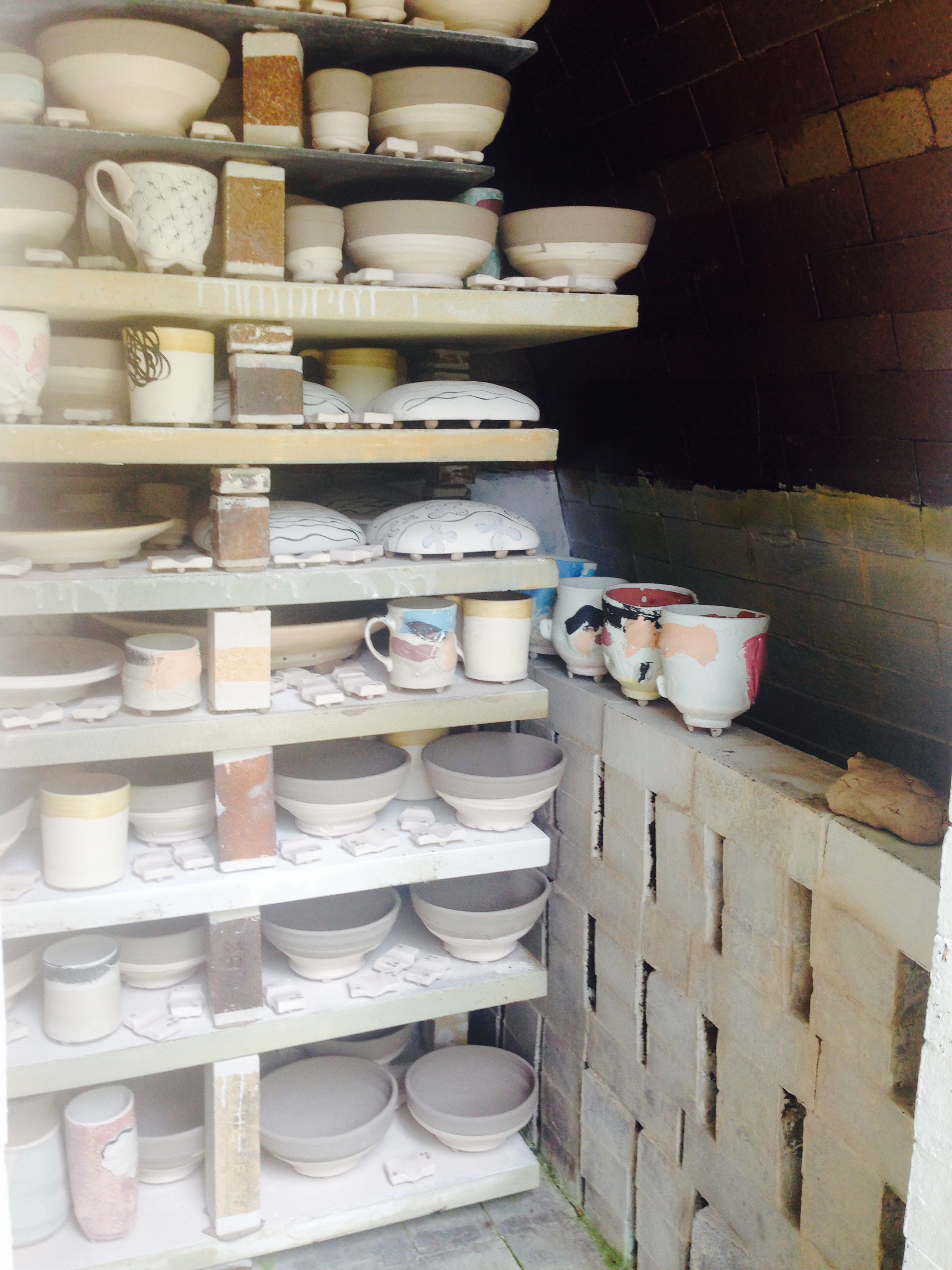 Hidden Lake Pottery loaded kiln.jpg