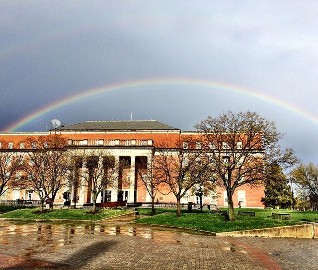 MEES Assistant Director, Sandy Davis, was lucky enough to catch this beautiful rainbow at the college park campus last week after a crazy thunderstorm. #umcp #meesprogram 🌈