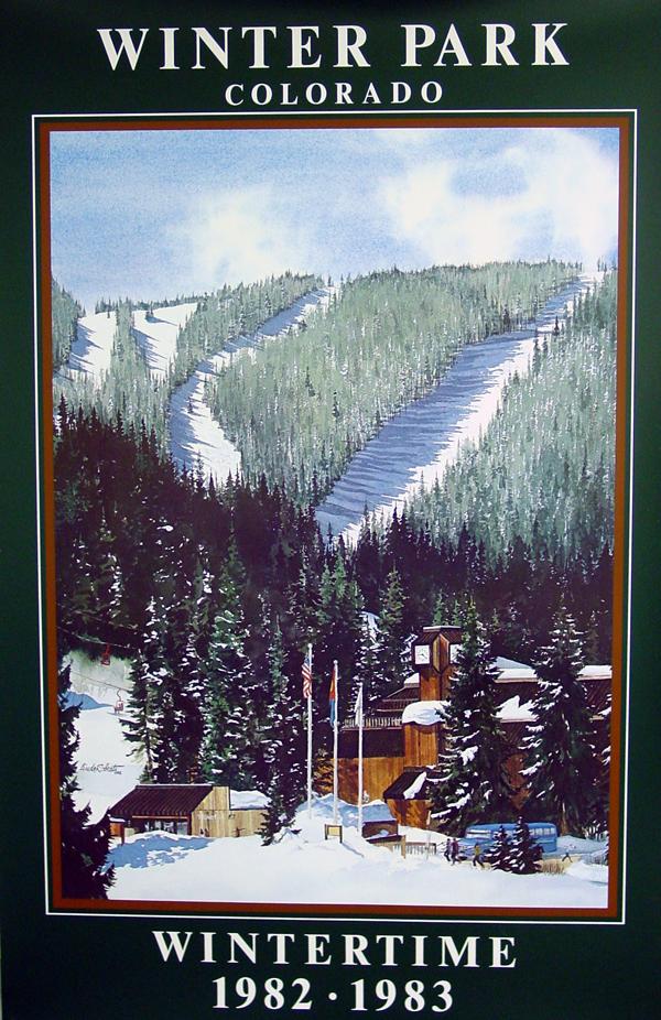 $30.00   22 x 34, Commemorative 1982-1983 Winter Park Resort Poster - Winter Season