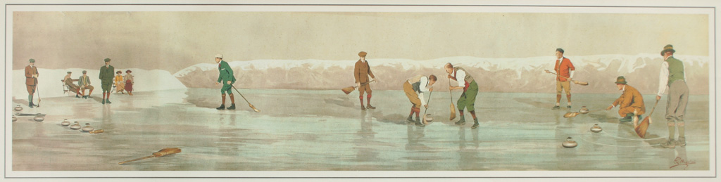 "Carlo Pellegrini (ITA)      ,   Winter Sports  ,   Gold Medal Winner in the ""Painting"" Category of the 1912 Stockholm Olympic Art Competitions."