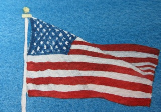 American Flag Watercolor Red