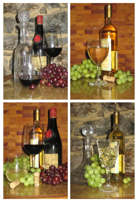 Red and white wine pictures