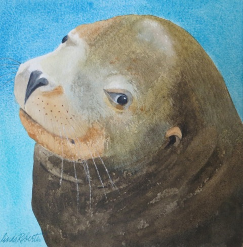 Sea Lion on Arches paper