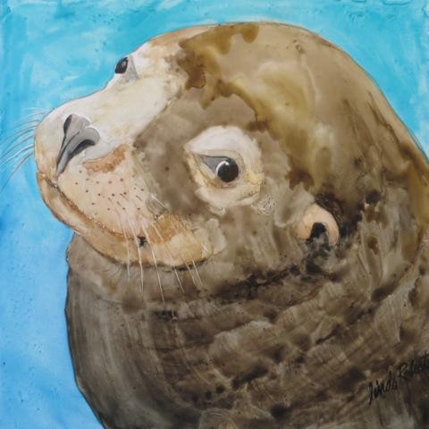 Sea Lion on Yupo paper