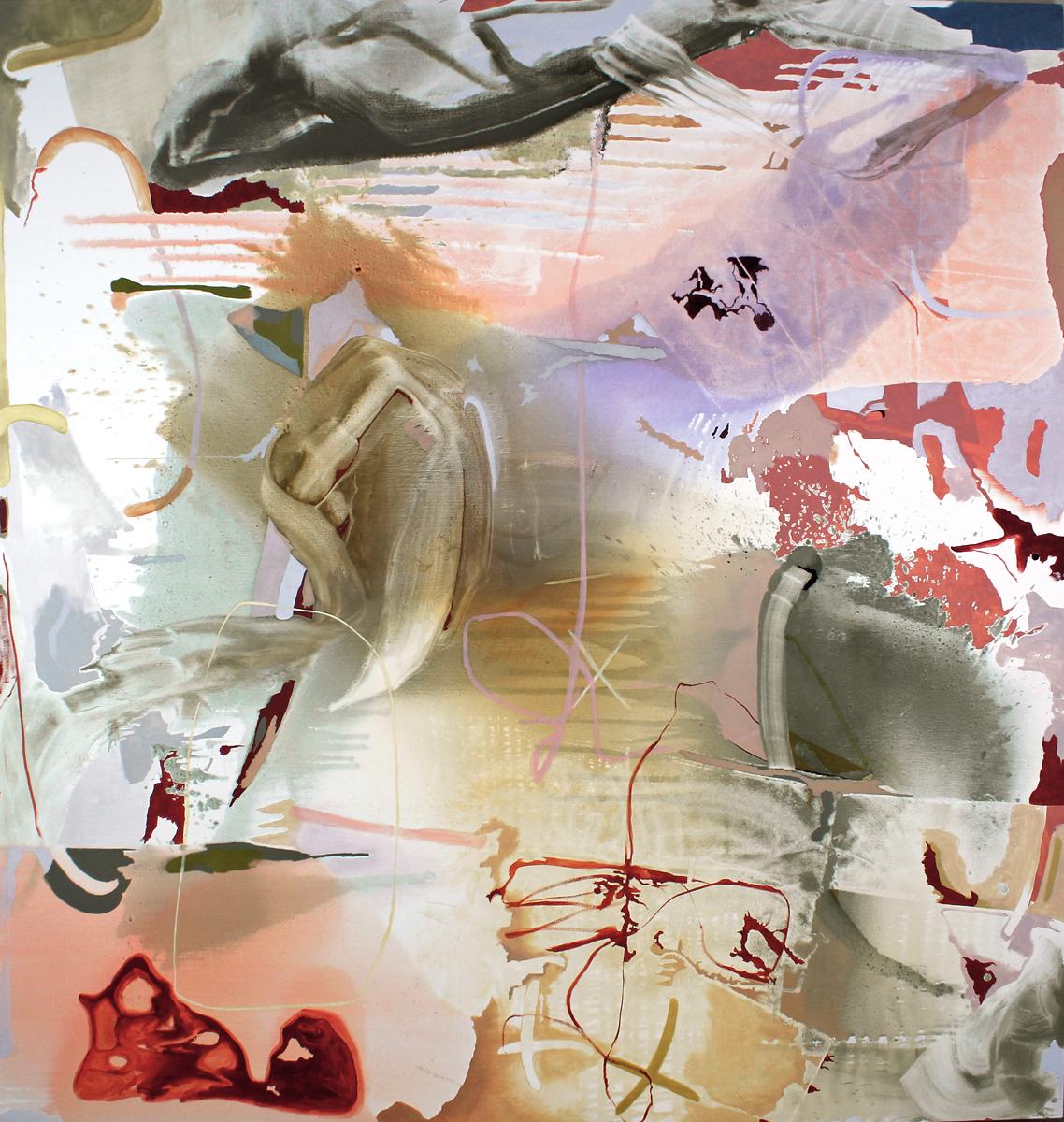 Speechfog. 80 x 84 in. oil on canvas. 2018.