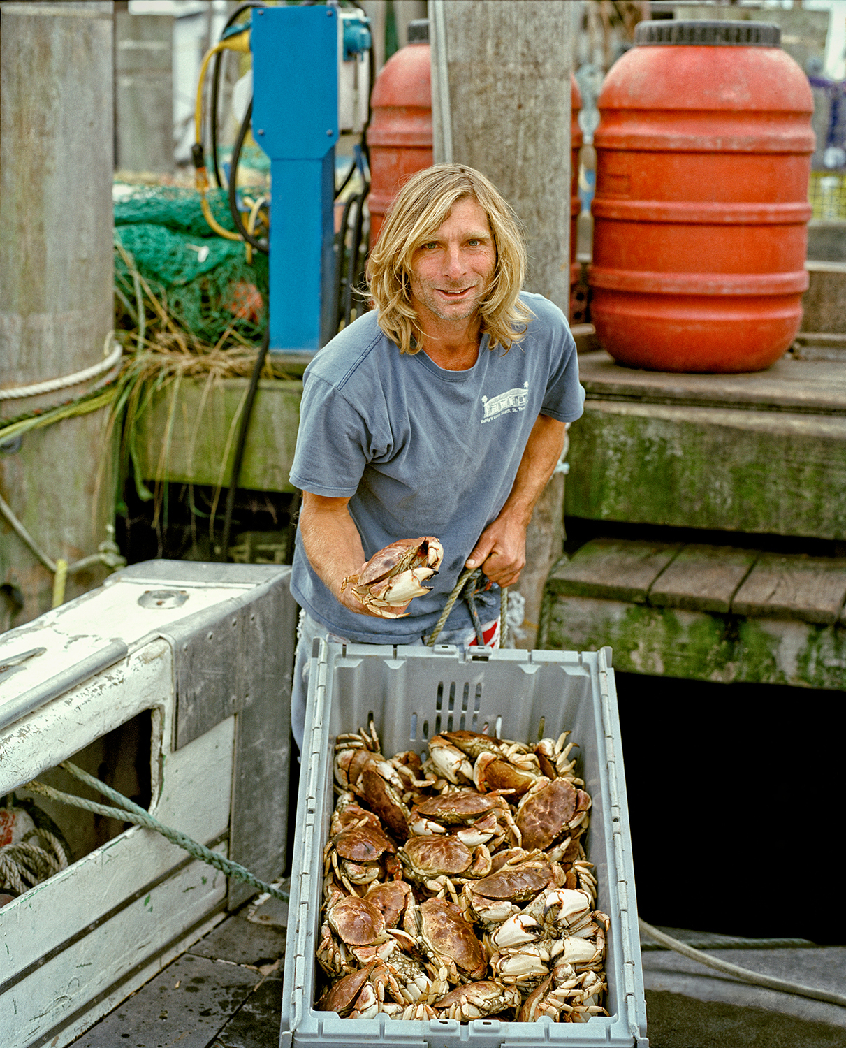 Anthony Sosinski, Commercial Fisherman, Anna Mary Boat, Town Dock