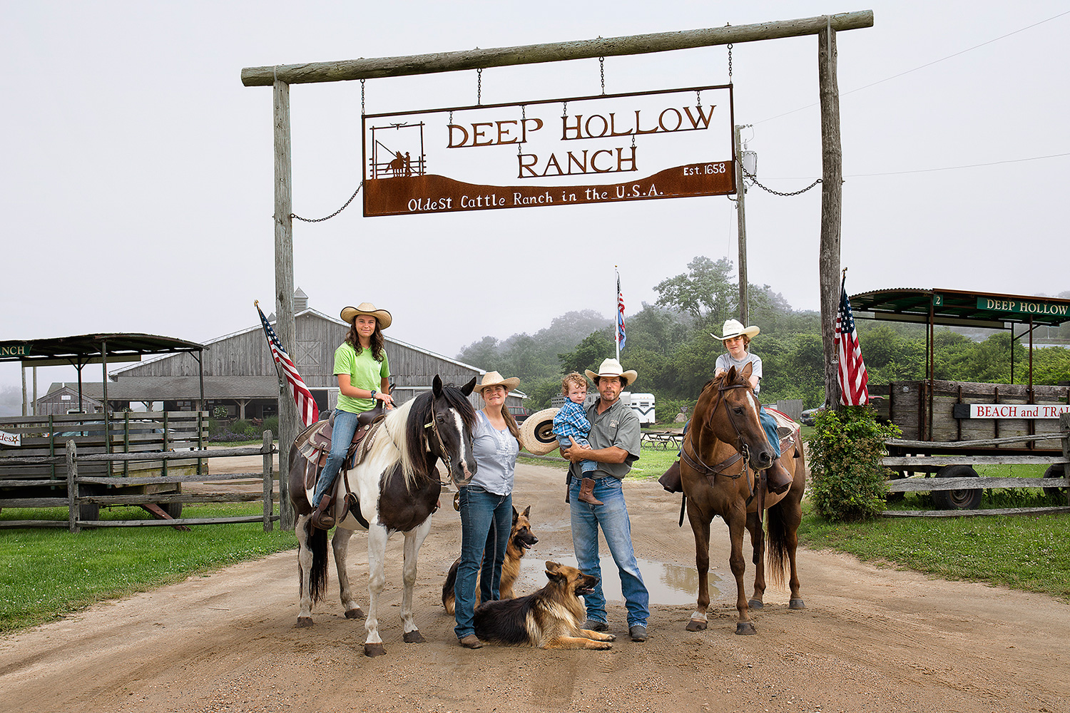 The Keogh Family: Patrick, Cate, Francesca, Broudy, Rohan, Ranchers, Proprietors, Deep Hollow Ranch